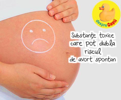 Substantele toxice care pot dubla riscul de avort spontan:�