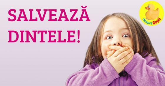 Traumatismul dentar la copil: ce trebuie sa stie parintii