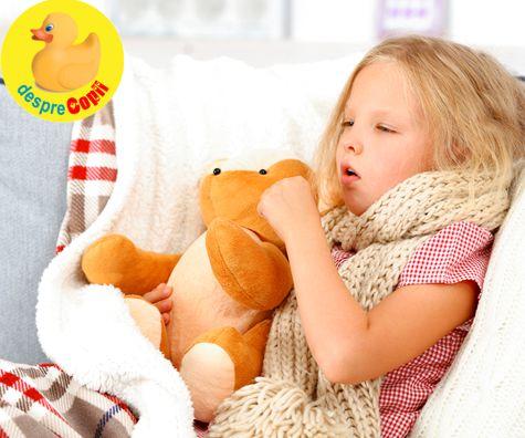 Tusea care nu ii da pace copilului: cum ajutam si tratam copilul