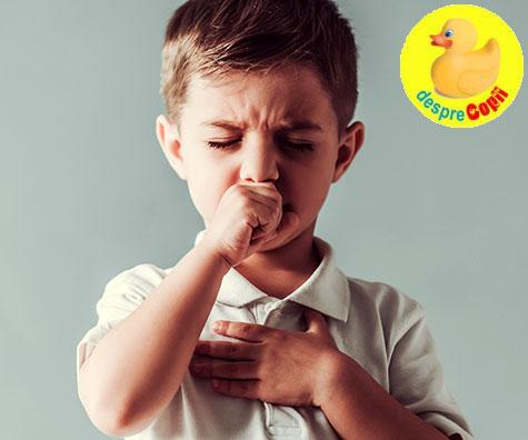 Tusea dupa o raceala: cum tratam copilul si ce trebuie sa stim