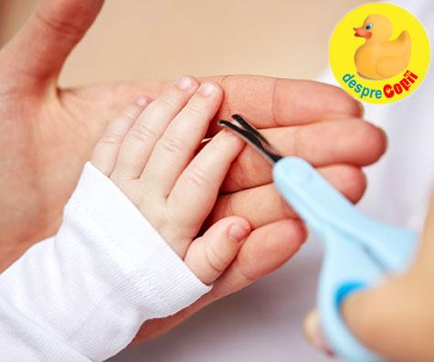 Ingrijirea unghiutelor bebelusului
