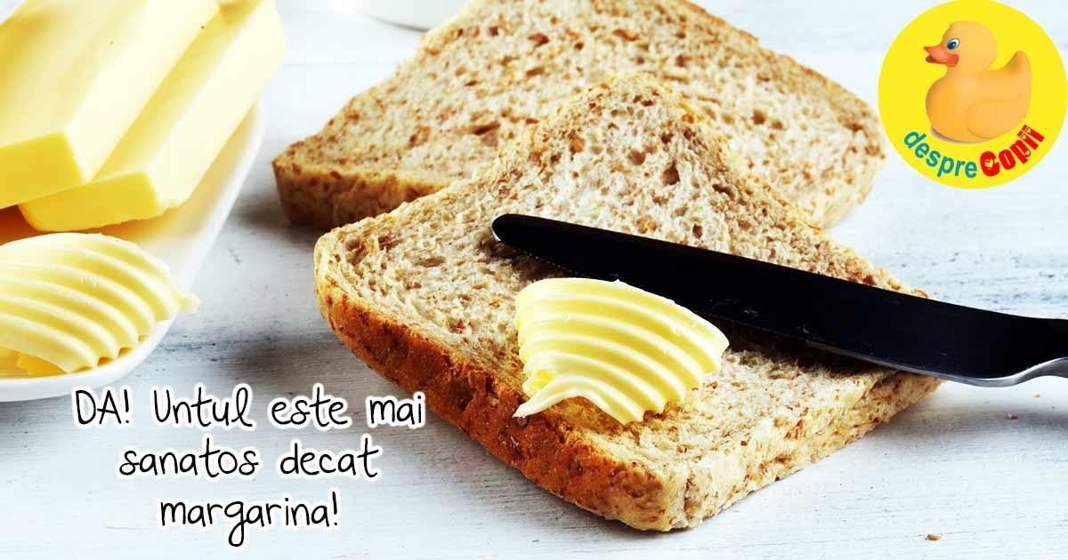 Untul este mai sanatos decat margarina