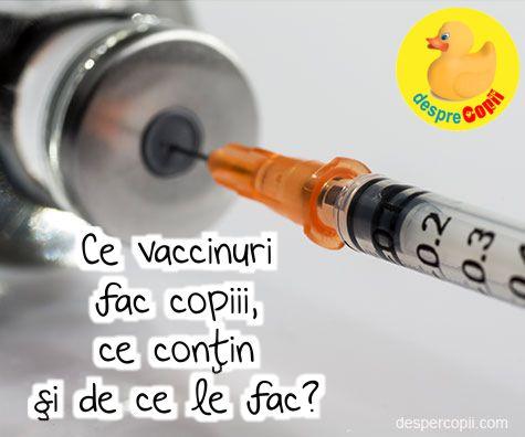 Ce vaccinuri fac copiii, ce contin si de ce le fac