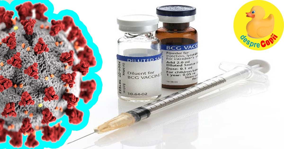 Rata mortalitatii la infectarea cu coronavirus este de sase ori mai mica in tarile in care se face vaccinarea cu vaccinul BCG