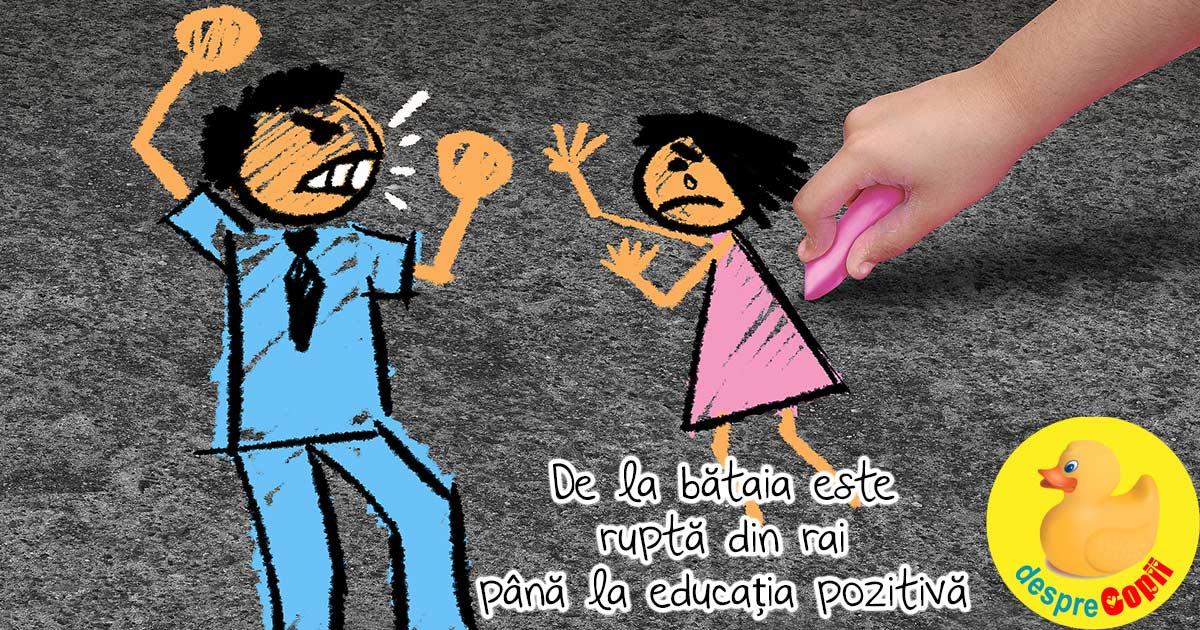 O palma administrata copilului ca metoda de educatie. De la bataia este rupta din rai pana la educatia pozitiva