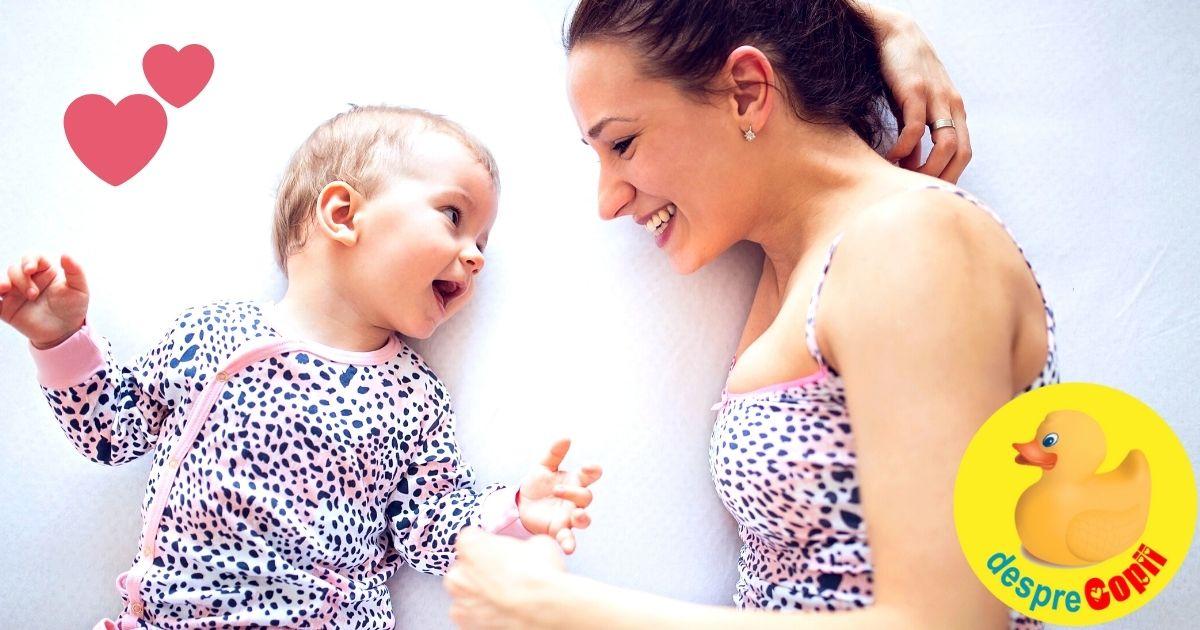 Mami, vorbeste mult cu bebelusul: este benefic pentru creierul sau!