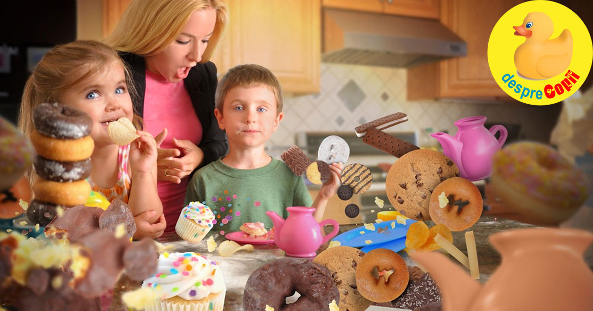 Excesul de zahar si alimente prajite duce la aparitia deficientelor imunitare respiratorii si digestive la copii