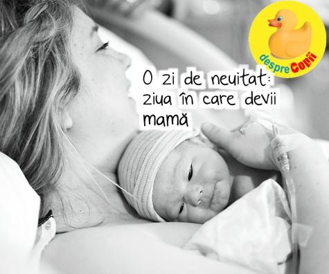 O zi pe care nu o vei uita niciodata: ziua in care se naste copilul tau