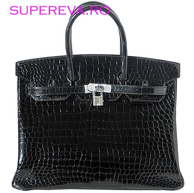 WISHLIST.RU An Hermes Black Crocodile Birkin Bag with Diamonds.