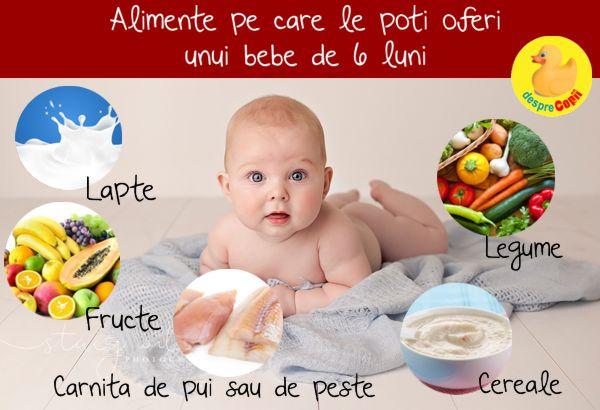 Ce mananca bebelusul la 6 luni? | Desprecopii com