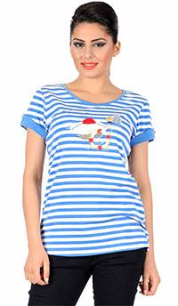 tricou bleu marinar