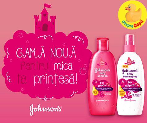 Păr de prinţesă pentru micuța ta cu Păr sclipitor, noua gamă de  de la Johnson's®