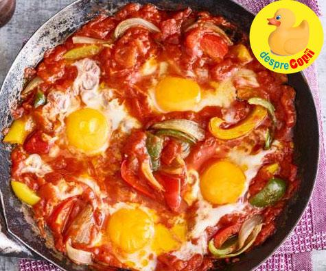 Shakshuka: oua in sos tomat, o delicioasa mancare evreiasca