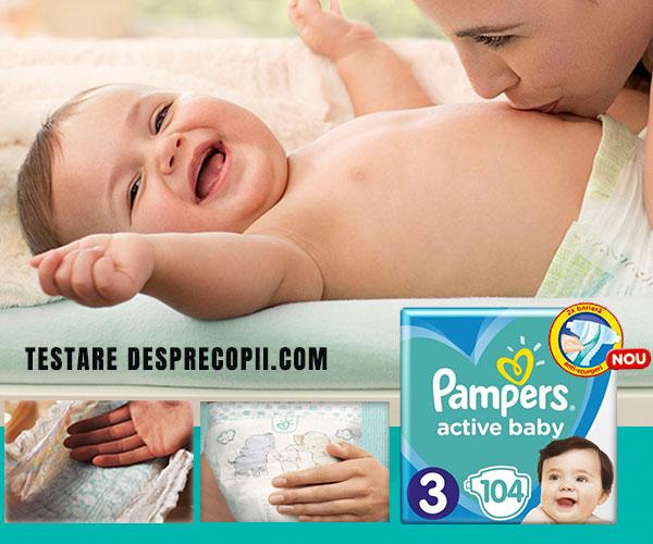 Ce spun mamicile despre noul Pampers Active Baby 2020
