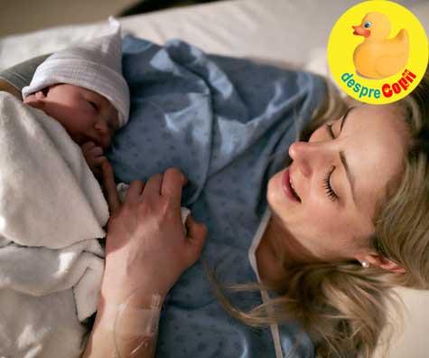 Am nascut placenta inaintea bebelusului sau despre abruptia placentara - povestea emotionanta a unei mamici la nastere