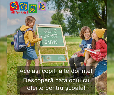 Vrei sa incepi noul an ca la carte? SMYK All for Kids da startul pregatirilor pentru scoala