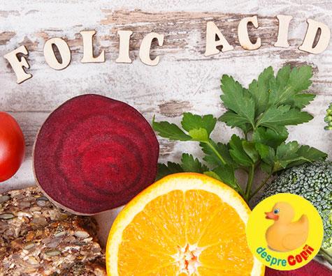 Acidul folic: Tot ce e nevoie sa stii despre aceasta vitamina esentiala sarcinii