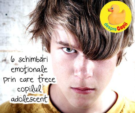 6 schimbari emotionale prin care trece copilul adolescent