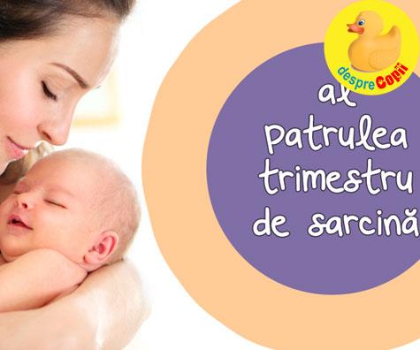 Al patrulea trimestru de sarcina sau trimestrul bebelusului. Bebe invata o noua lume iar mami uita ce e somnul.