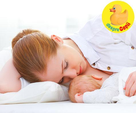 Alaptarea si co-sleepingul: de ce alaptarea poate deveni mai usoara iar bebe poate dormi mai bine