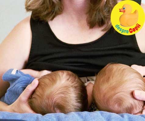 Alaptarea bebelusilor gemeni, o misiune posibila cu aceste sfaturi