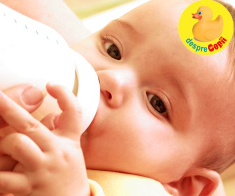 Hranirea simultana a bebelusilor cu lapte matern si lapte formula: riscuri pentru bebelus