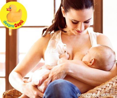 Alaptarea in timpul puseelor de crestere ale bebelusului