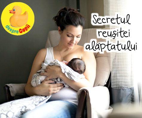Secretul reusitei alaptatului este felul cum prinde bebe sanul. Iata ce trebuie sa stii.