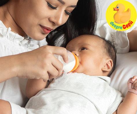 Alaptarea cu biberonul: Mai precis hranirea bebelusului cu biberonul. 9 lucruri esentiale de stiut draga mami