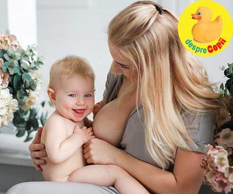 Mamele cu sanii mari nu alapteaza mai usor. Iata de ce acest mit este distrus si sfaturile personale ale unei mamici