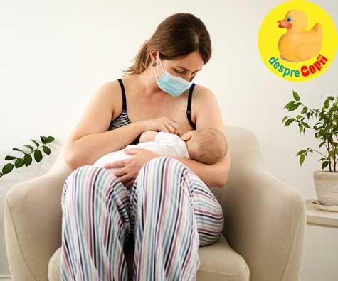Alaptarea in era COVID-19: ce trebuie stiut pentru a-ti hrani bebelusul in siguranta