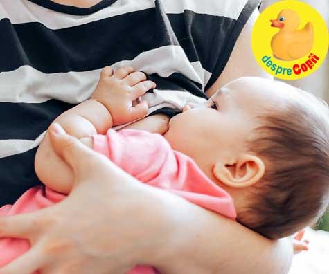 Mamici care alapteaza: consumul de lapte al mamei poate reduce alergiile alimentare la bebelus