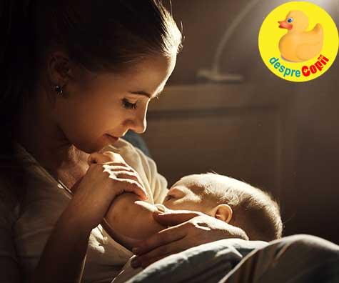Greseli in alaptare: nu alaptezi noaptea iar bebe are nevoie de acel laptic