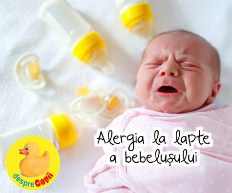 Alergia la lapte a bebelusului: simptome, cauze si tratare