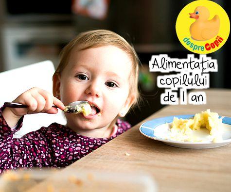 Alimentatia copilului de 1 an: ce, cat si mai ales cum