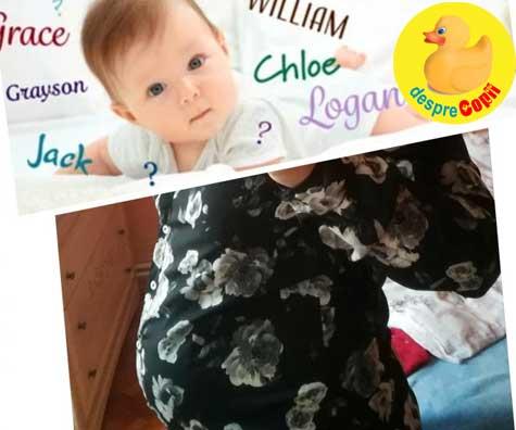 Saptamana 30: am ales numele baietelului nostru - jurnal de sarcina