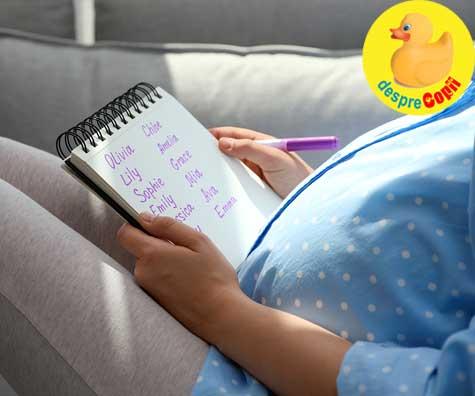 Cand si cum am ales numele bebelusului - jurnal de sarcina