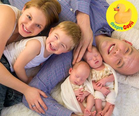 Am nascut natural la spitalul de stat din Braila - povestea nasterii gemenilor identici