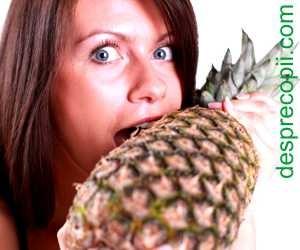 Sarcina si consumul de ananas