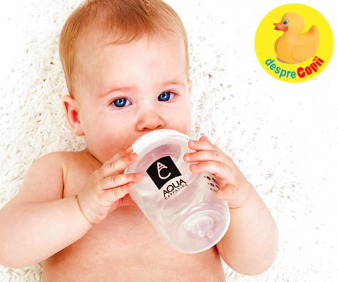 Diversificarea bebelusului: de ce apa e importanta