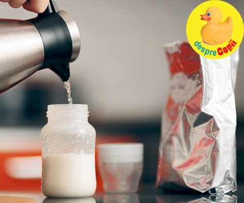 Preparea laptelui formula pentru bebe. Iata ce apa putem folosi.