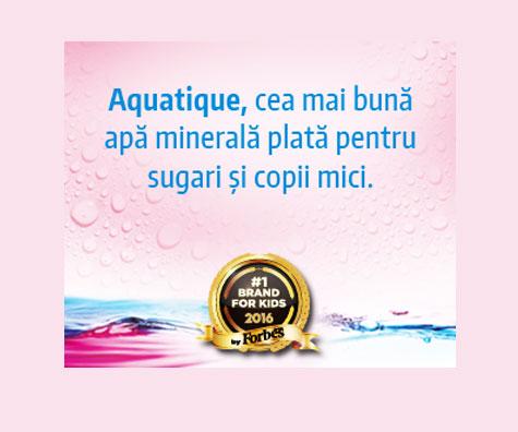 Aquatique, cea mai buna apa minerala plata pentru sugari si copii mici
