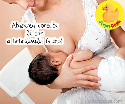 Atasarea corecta la san a bebelusului (video)