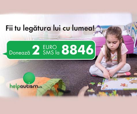 Doneaza acum 2 euro pentru copiii cu autism!