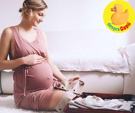 Bagajul de maternitate in saptamana 35 - jurnal de sarcina