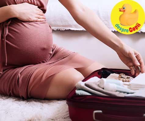 Bagajul meu de maternitate este gata: iata lista mea - jurnal de sarcina