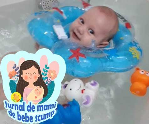 Bebe a trecut de la cadita de bebelus la colacul de baie - jurnal de mami de bebe scump