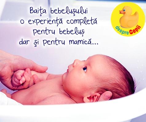 Prima baie a bebelusului: emotie, frica si acea privire de milioane
