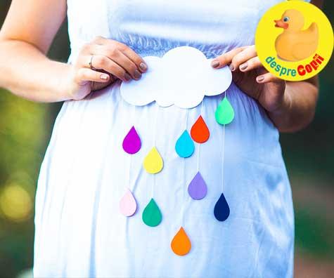 Bebe din burtica adora ploaia - jurnal de sarcina