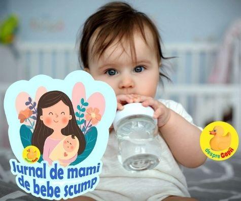 La 7 luni inca o victorie: l-am invatat pe bebe sa bea singur apă - jurnal de mami de bebe scump
